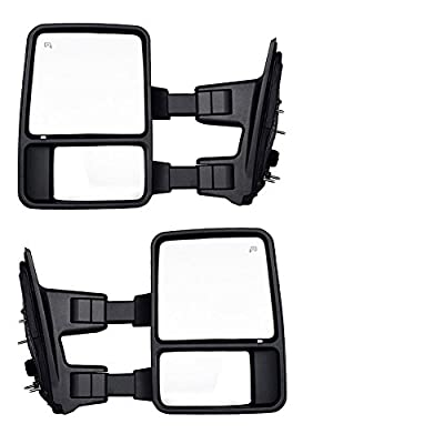DEDC Ford Towing Mirrors F250 Ford Tow Mirrors F350 F450 Pair For 1999-2007 Side Mirror Power Heated With Signal Light (Upgrade to 08 Superduty Retrofit) 1999 2000 2001 2002 2003 2004 2005 2006 2007