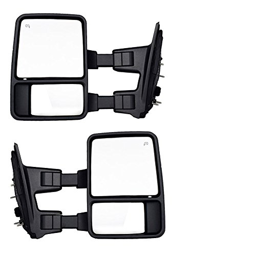 DEDC Ford Towing Mirrors F250 Ford Tow Mirrors F350 F450 Pair For 1999-2007 Side Mirror Power Heated With Signal Light (Upgrade to 08 Superduty Retrofit) 1999 2000 2001 2002 2003 2004 2005 2006 2007 by DEDC