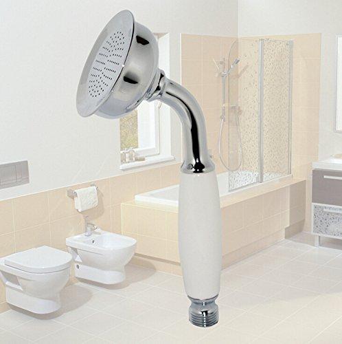 Aiber Polished Chrome Telephone Shaped Handheld Brass Shower Head Rain Sprayer Telephone Shower