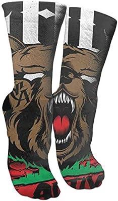 Bear Ride Bike Unisex Outdoor Long Socks Sport Athletic Crew Socks Stockings