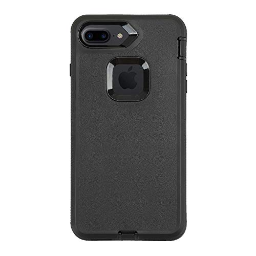 Case for iPhone 7 Plus/8 Plus,Heavy Duty 3 in 1 Built-in Screen Protector Cover Dust-Proof Shockproof Drop-Proof Scratch-Resistant Shell for Apple iPhone 7+/8+ 5.5inch,Black