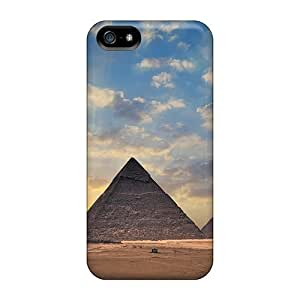 BwZBgzn6670elEgb Tpu Phone Case With Fashionable Look For Iphone 5/5s - Egypt Pyramids