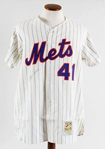 Tom Seaver Signed Jersey New York Mets - COA - Autographed MLB Jerseys