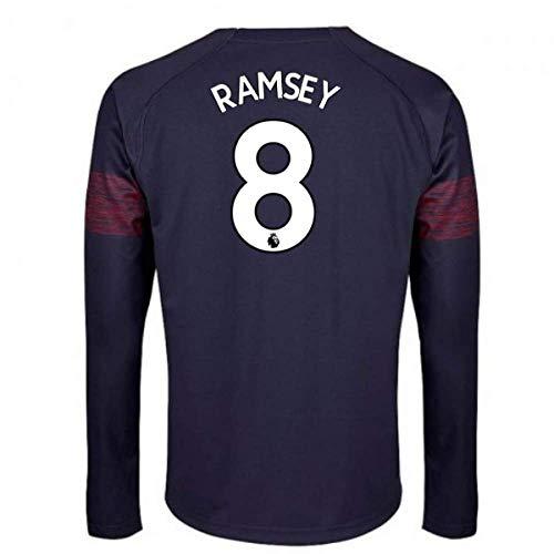 2018-2019 Arsenal Puma Away Long Sleeve Football Soccer T-Shirt Jersey (Aaron Ramsey 8)