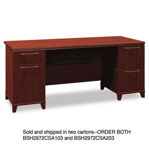 Bush Business Furniture Enterprise Collection 72W Double Pedestal Desk in Harvest ()