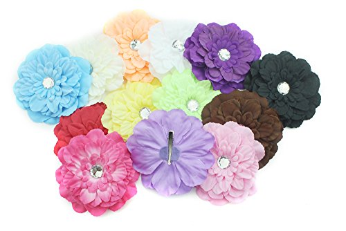 lot-lovely-gerbera-daisy-flower-clip-for-baby-girls-child-brooch-hair-decoration-13-pcs-4-inch