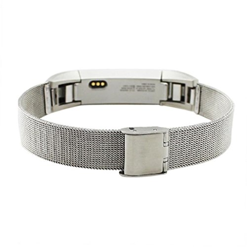 Fitbit Alta Strap, OverDose Milanese Stainless Steel Adjustable Replacement Accessory Straps for Fitbit Alta