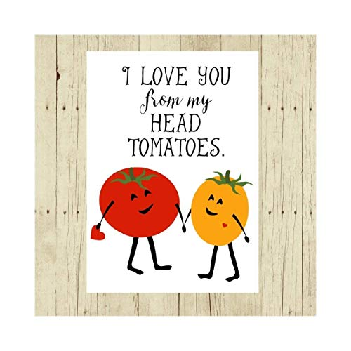 I Love You From My Head Tomatoes Pun Magnet 2.5 x 3.5