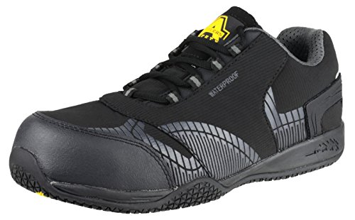 Amblers Safety Mens FS29C Waterproof Safety Trainers Black Black