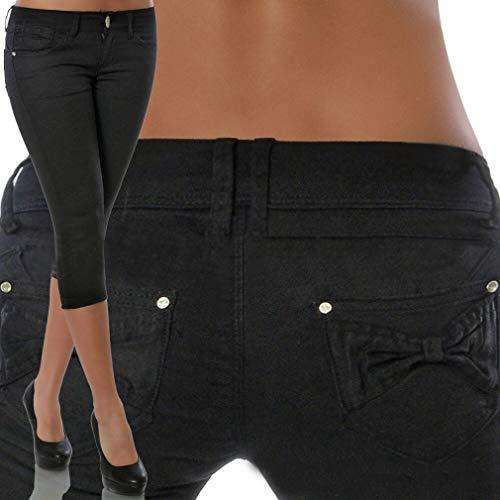 Capris Pantalón S Mujer Pantalones Moda Cintura Sólido Hibote 1 Casual Bolsillos Leggings Pies Alta 3XL Jeans Color 3 Estrechos Pantalones 4 OwqU0qBd