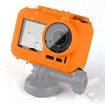 CAOMING Silicone Protective Case for DJI New Action with Frame Durable Color : Blue