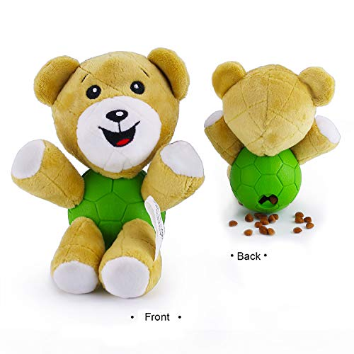 - EETOYS Squeaky Plush Toy Interactive Animal Treat Dispensing Toy for Dog Bear