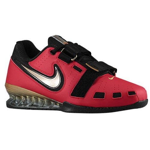 NIKE Romaleos II Power Lifting Shoes - Varsity Red/Met Gold/Black (11.5)