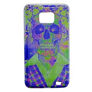 SUMCOM Skull and Flower Pattern TPU Soft Case for Samsung S2 i9100