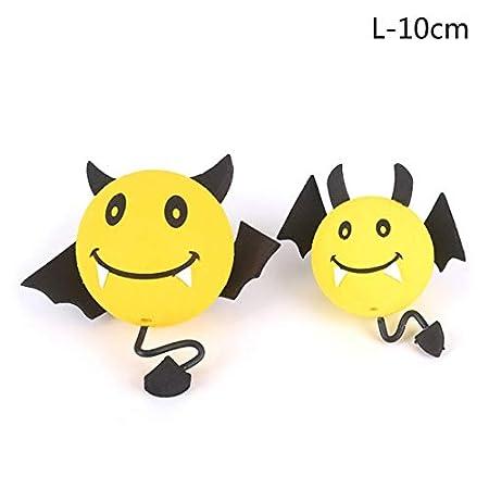 Color Name: l Yellow Devil Antenna Topper Eva Decorative Car Topper Balls Car Inner Accessories 10cm