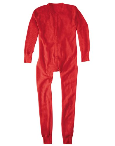 HANES Union Suit Red, Red, L