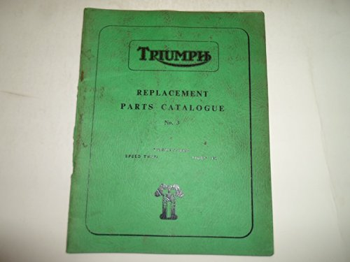 1961 Triumph Replacement Parts Catalog Twenty One Speed Twin Tiger 100 No.3