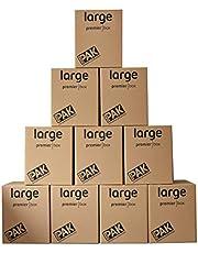 صناديق للتخزين والنقل شديد التحمل من ستورباك، 107 لتر- ارتفاع 55× العرض 46× العمق 46 سم ( مجموعة من 10)
