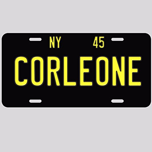 (Forever Signs Of Scottsdale Corleone The Godfather 1945 NY New York Reproduction Aluminum License Plate Tag)