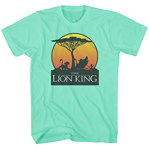 (Disney Lion King Sunet Pride Stroll Pumbaa Timon Africa Simba Mufasa Disneyland World Tee Adult Men's Graphic T-Shirt Apparel (Mint, X-Large))