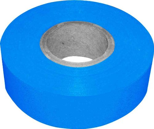 Bon 84-835 300-Feet by 1-3/16-Inch 4-Mil High Visibility Flagging Tape, Blue, 12-Pack (300' Flagging Tapes)
