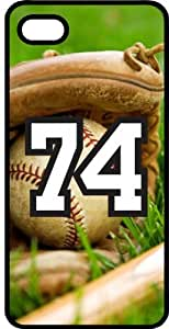 Baseball Sports Fan Player Number 74 Black Rubber Decorative iphone 5c Case