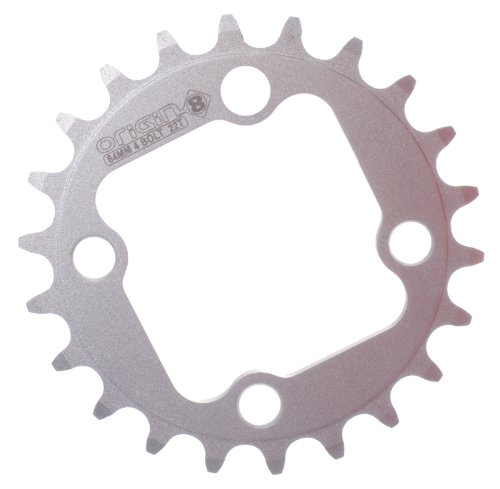 Origin8 Alloy Blade Chainrings, 64mm / 4 bolt / 22t (9 Speed 64mm 4 Bolt)