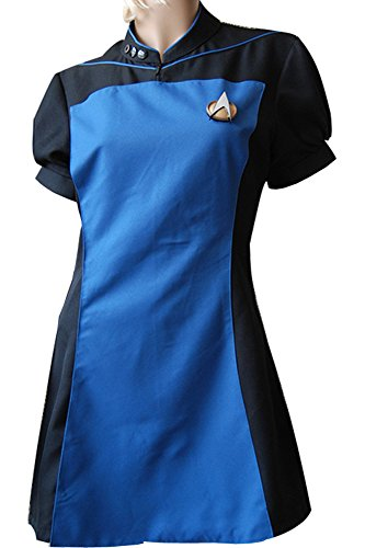 CosplaySky Star Trek TNG Dress Teal Skant Uniform Halloween Costume (Star Trek Tng Uniform)