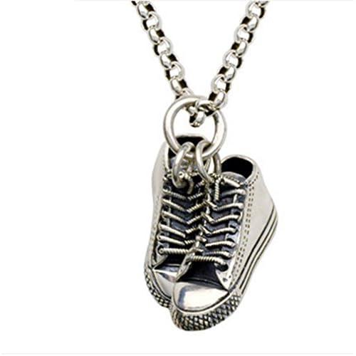 64bfc81b4958 Barato ORKST Collar Pendiente De Los Zapatos Casuales De La Vendimia De Los  Hombres De Plata