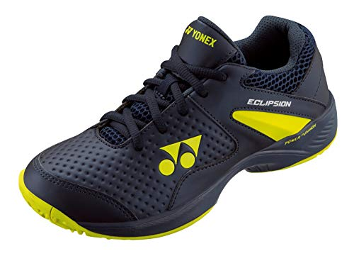 YONEX Power Cushion Eclipsion 2 Junior Tennis Shoe, Navy/Yellow (Size 7)