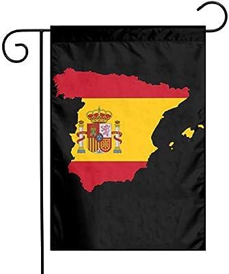 Zudrold Bandera de España Mapa Bandera de poliéster Vertical Bandera de jardín para decoración de jardín de Exterior: Amazon.es: Jardín