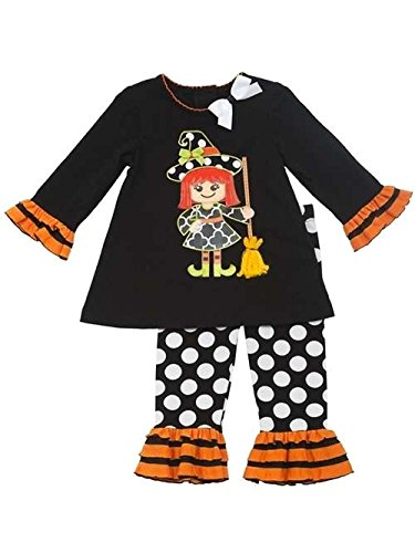 Rare Editions Girl's 2T Halloween Witch Tunic and