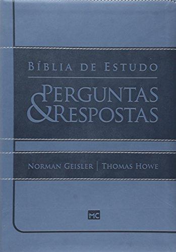 Bíblia de Estudo. Perguntas e Respostas. Azul