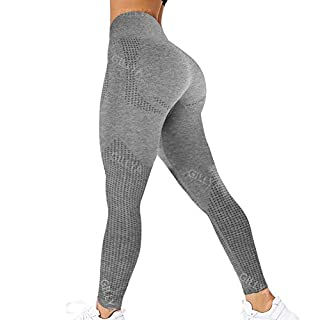GILLYA Gym Vital Seamless Leggings for Women High Waisted Seamless Butt Leggings with Tummy Control Seamless Yoga Leggings
