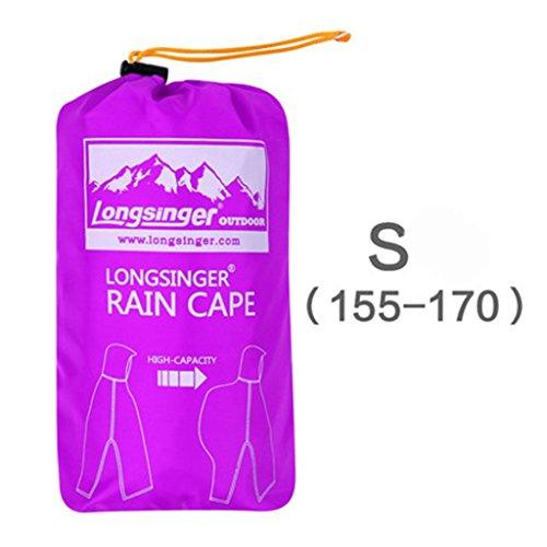 H 185cm Extérieur L'eau Trois Extérieur Imperméable À L170 couleur Poncho F L'alpinisme Multifonctionnel s155 Raincoat Pour 170cm twZqOpx