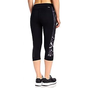 adidas Women's Training Techfit Print Capri Tights, Black/Oxidized Camo, Small