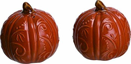 Ceramic Pumpkin Orange (Transpac Ceramic Swirl Pumpkin Salt and Pepper Shaker Set)