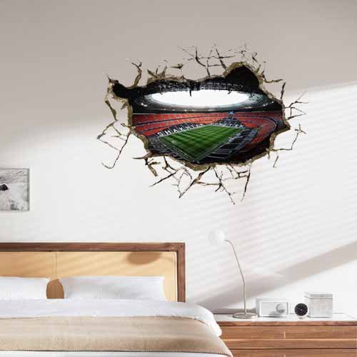 3D Mural Painting Home Wall Sticker Europe Decor background wallpaper Luxury soccer field by shopinmall (Image #2)