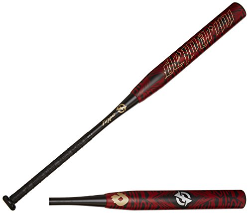 DeMarini 2015 Flipper Aftermath OG Slowpitch Bat, Black/Dark Red/Pale Gold, 34 inch/26 oz by DeMarini