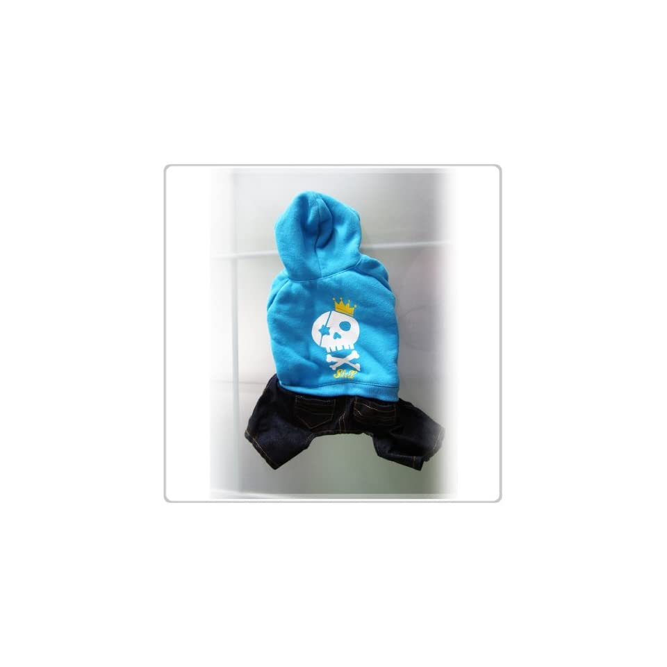 Pet Dog Clothing and Apparel Shirt and Jeans One piece  Small Size