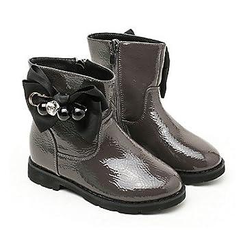 kekafu Las niñas Zapatos Charol Moda otoño Invierno Pelusas Forro Botas/Botines Botas Bota Botines