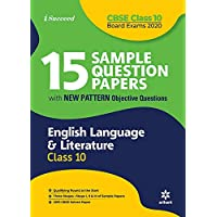 15 Sample Question Papers English Language & Literature Class 10th CBSE 2019-2020
