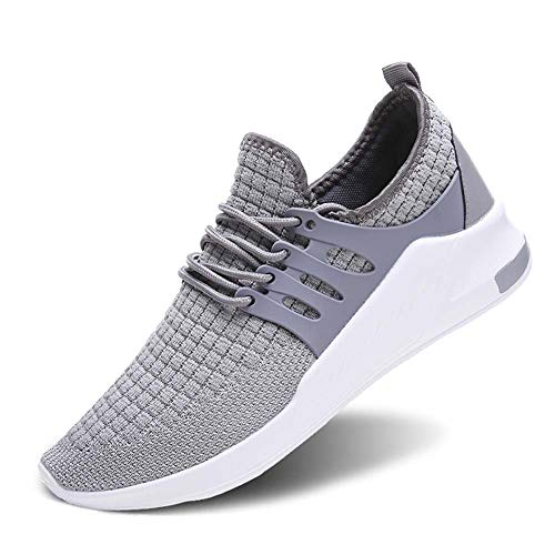 Wander G Men's Women's Slip on Sneakers Fashion Lightweight Running Shoes Casual Athletic Shoes for Walking (40,Grey)