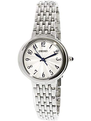 (Seiko Womens Analogue Quartz Watch with Stainless Steel Strap SRZ505P1)