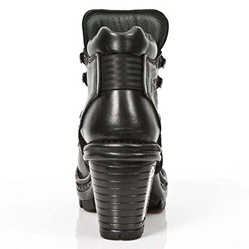 New Rock Neotrail nero Pelle Stivali M.NEOTR007-S1 Black, Black