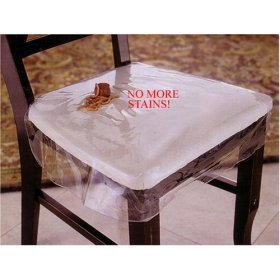 LAMINET Vinyl Chair Protectors, Clear, 26X253/4-Inch, Fits Chairs up to 21x21-Inch, Set of - Chair Covers Seat Plastic