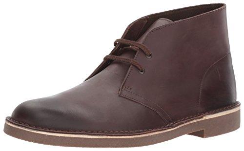 (Clarks Men's Bushacre 2 Chukka Boot, Dark Brown Leather, 9.5 M US)