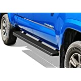 APS iBoard Running Boards 5in Black Custom Fit 2005-2020 Toyota Tacoma Double Crew Cab Pickup 4-Door (Nerf Bars Side Steps Side Bars)