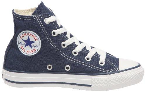 Converse Youths Chuck Taylor All Star Hi Zapatillas de tela, Unisex - Infantil Azul (Azul Marino)