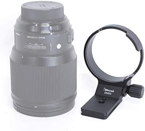 Tripod Mount Ring Built-in Quick Release Plate Compatible with Tripod Ball Head of ARCA-Swiss PMG Fit for Canon EF, Nikon AF, Sony E Mount iShoot Lens Collar Holder for Sigma 85mm F1.4 DG HSM Art